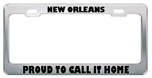 - Billion_Store New Orleans Proud to Call IT Home Hurricane Katrina License Plate Frame Tag Premium Stainless Steel License Plate Frame Materials
