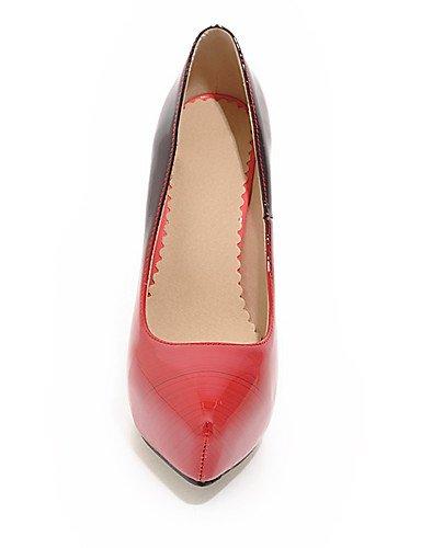 Schuhe Plattform Farbe GGX eu38 Pumpe Heel Damen 5 Zulaufender erhältlich Farbe cn38 red Stiletto Kontrast uk5 us7 mehr Zehenbereich Spitz 5 pqwzxSqn75