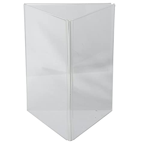 Clear-Ad - LHE-8511 - Acrylic 3-Sided Table Tent Menu Holder 8.5x11 (Pack of 2)