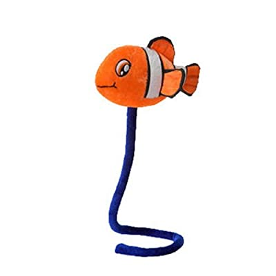 Fiesta Plush - Orange CLOWN FISH (6 inch on 18 in bendable stick): Toys & Games