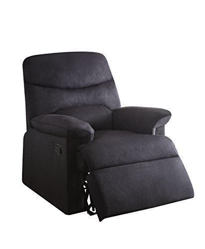 ACME Furniture Acme 00701 Arcadia Recliner, black woven Fabr