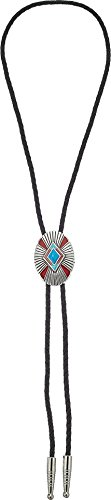 M&F Western Unisex Bolo Tie Turquoise/Red Pendant One Size