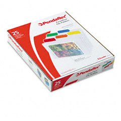 Pendaflex 55702 Pendaflex EasyView Poly File Folders, 1/3 Cut, Top Tab, Letter, Clear, 25/Box