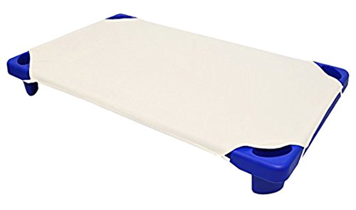 American Baby Company 100% Natural Cotton Percale Standard Day Care Cot Sheet, Ecru, 23 x 51, Soft Breathable, for Boys and Girls