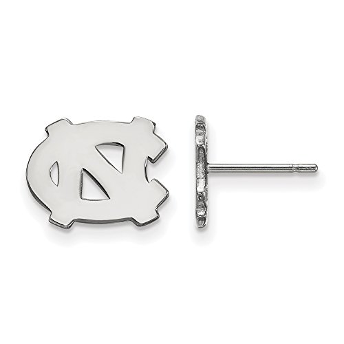 North Carolina Extra Small (3/8 Inch) Post Earrings (14k White Gold) by LogoArt