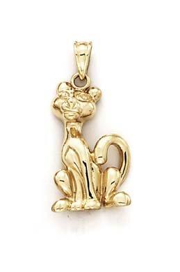 Amazon 14k yellow gold cat pendant jewelry 14k yellow gold cat pendant aloadofball Gallery