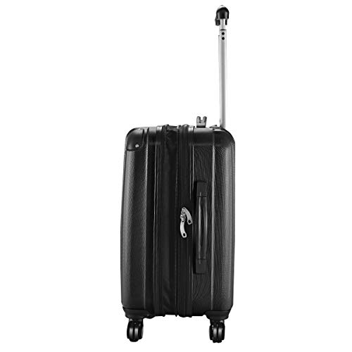 Goplus 20'' ABS Carry On Luggage Expandable Hardside Travel Bag Trolley Rolling Suitcase GLOBALWAY (Black) by Goplus (Image #2)
