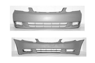 - Pre Painted Toyota Corolla (S Model, w/ Ground Effects) Front Bumper Painted to Match Vehicle
