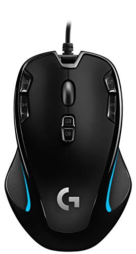 Logitech G300s Wired Gaming Mouse, 2,500 DPI, RGB, Lightweight, 9 Programmable Controls, On-Board Memory, Compatible…