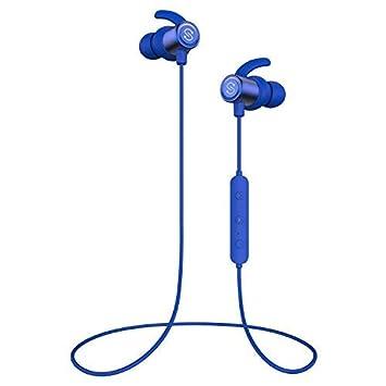SoundPEATS Auriculares Inalámbricos Bluetooth 4.1 Magnéticos In-Ear Cascos Deportivos con Mic, Resistente al