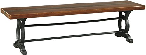 Zurani Brown and Black Large Dining Room Bench