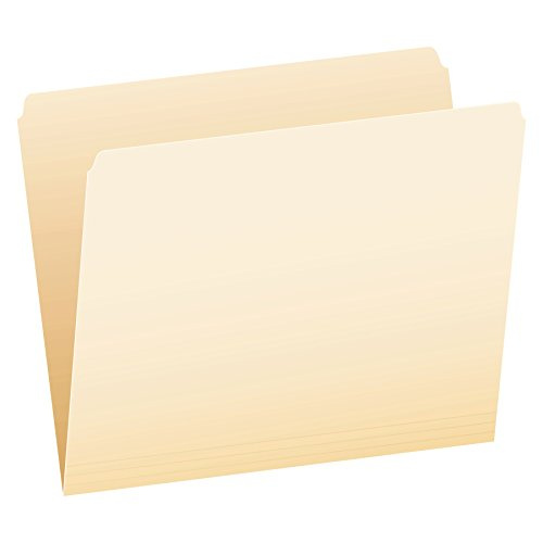 Pendaflex 752 File Folders, Straight Cut, Top Tab, Letter, Manila (Box of 100) - File Folder Letter