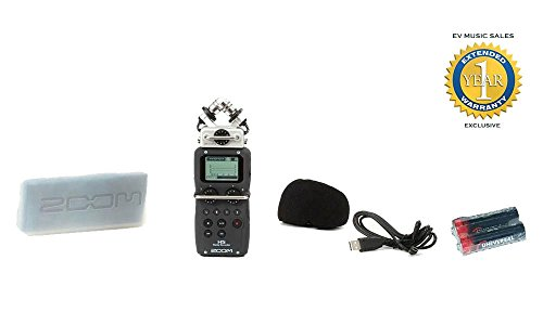 Zoom H5 Handy Recorder with Free 2 Universal Electronics AA Batteries and 1 Year Free Extended Warranty by Zoom