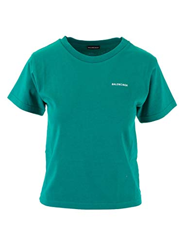 Balenciaga Luxury Fashion Girl 556155TGV723640 Green Cotton T-Shirt   Fall Winter 19