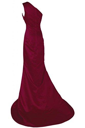 Sunvary Pageant da Una spalla Gowns abiti da Chic Burgundy sera sera raso abito rvZxrq8