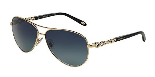 Tiffany sunglasses TIF 3049B sunglasses 61034U Pale gold - Gold Sunglasses Tiffany Aviator