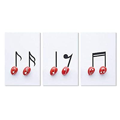 Dazzling Style, 3 Panel Cherry Tomato with Music Notes x 3 Panels, With Expert Quality