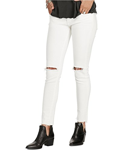 Ralph Lauren Denim & Supply Women's Carmen Cropped Skinny Jeans Carmen Destruction 27 White