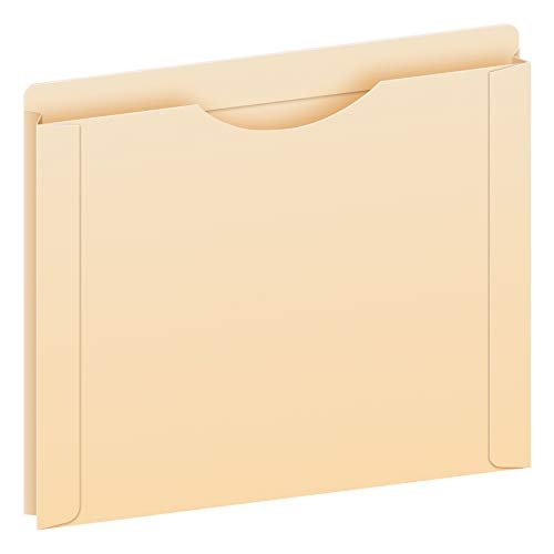 Pendaflex File Jackets, Letter Size, Manila, Reinforced Straight-Cut Tabs with Thumb Cut, 50 per Box (22000EE)