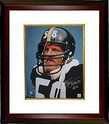7c1e41ea3 Jack Lambert Signed Autograph Pittsburgh Steelers 8x10 Photo Tooth HOF 90  Custom Framed-Lambert -