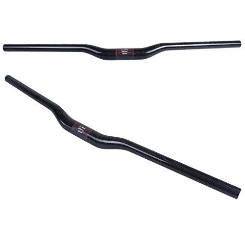 Qianqsun 31.8*680mm 3K Carbon Fiber Handlebar MTB Bike Cycling Bicycle Riser Bar Black