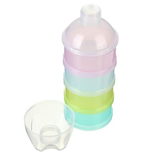Ma-on 4Options Distributeur de lait en poudre Coque enfants Boîte de voyage pour bébé