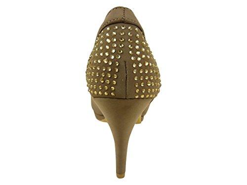 Chaussmaro - Zapatos de Vestir Mujer Beige - marrón