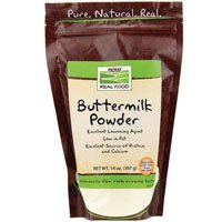 NOW Buttermilk Powder - 14 Oz. (Pack of 6)