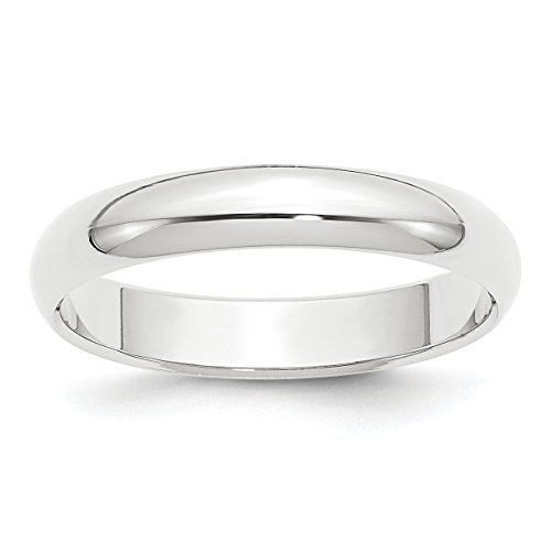 Diamond2Deal Platinum Half Round Wedding Band Ring
