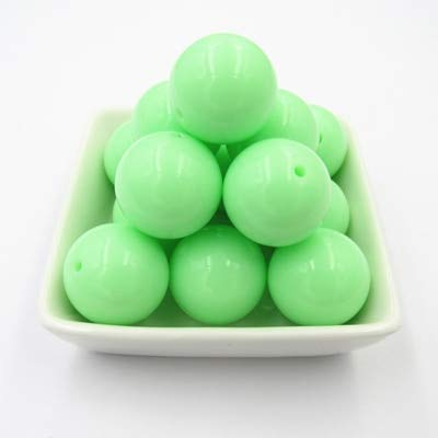(Calvas Newest! 6mm/8mm/10mm/12mm/14mm/16mm/18mm/20mm Pastel Color/Spring Color Chunky Acrylic Solid Beads (Choose Color/Size) - (Color: Pastel Green A41, Item Diameter: 12mm 500pcs per Bag))