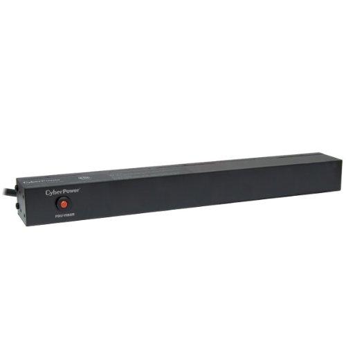 CyberPower PDU15B8R Basic PDU, 100-125V/15A, 8 Outlets, 1U Rackmount
