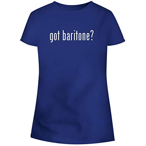 One Legging it Around got Baritone? - Women's Soft Junior Cut Adult Tee T-Shirt, Blue, Small