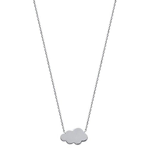 Collier Chaine en Argent 925/000 - Pendentif Nuage - Bijou Femme