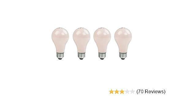 Pink GE Lighting 97484 100-Watt 1330-Lumen Decorative A19 Incandescent Light Bulb 2-Pack