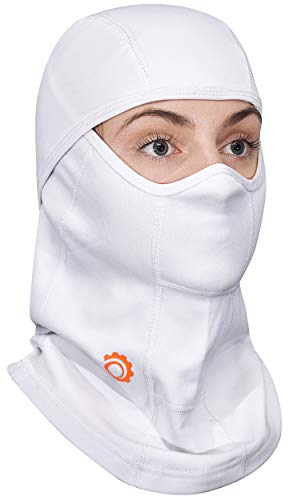 White Balaclava Ski Mask - All Season Full Face Mask - Best For Summer and Winter Women and Men + FREE Gift!