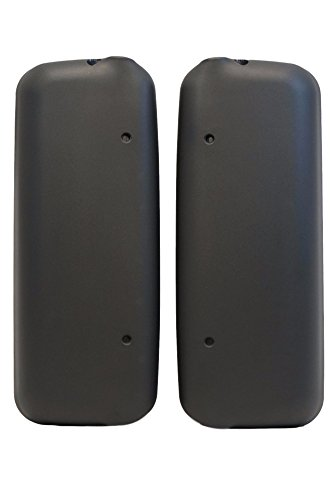 RusAm International BLACK MATTE MIRROR COVERS FOR FREIGHTLINER COLUMBIA AND CENTURY SET 2 PIEES PASSENGER AND DRIVER SIDE. PLASTIC DOOR MIRROR COVERS FOR FRT FLC AND CL BOTH SIDES LEFT AND RIGHT