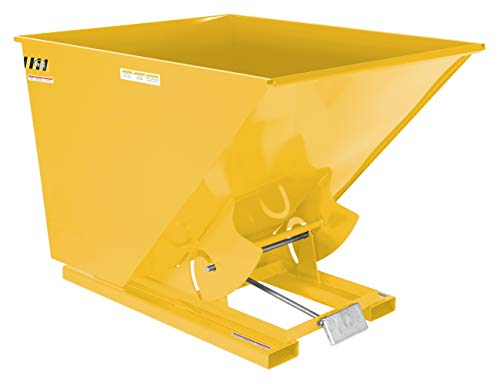 (Vestil D-200-LD-YEL Self-Dump Hopper LD, 2 cu. yd, 2000 lb. Capacity, Overall L x W x H (in.) 68-5/16