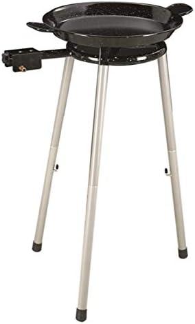 Ringg Smalto - Paellera de 30 cm, quemador de gas y soporte básico de 38 cm, para paella de cocina al aire libre, para 6 – 8 raciones, ideal para ...
