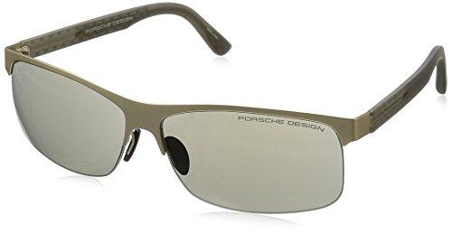 56e68fa20e92 Porsche Design Men s P 8584 P8584 B Gold Sport Sunglasses 64mm - Buy Online  in UAE.