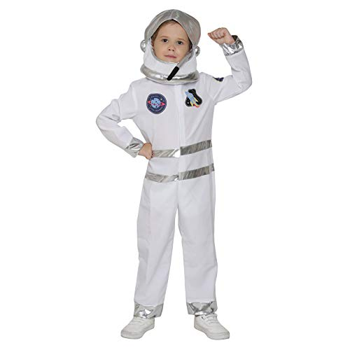 Kids Astronaut Costume Jumpsuit with Helmet Halloween NASA Role Play (Cadet 7-9 Year)]()