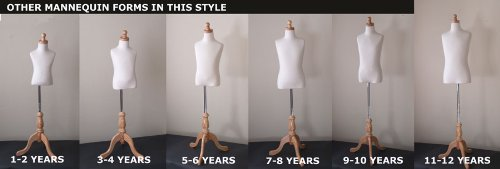 Kids 7-8 Years Child Jersey Mannequin Dress Form - Boy or Girl - White with Natural Tripod Base by EZ-Mannequins (Image #8)