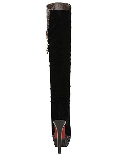 AIYOUMEI Women's Classic Boot Black REP1hME