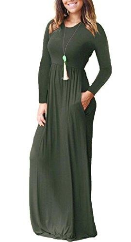 Jaycargogo Manches Longues, Plus La Taille Balançoire Robe De Soirée Maxi Gris Foncé Du Soir Des Femmes