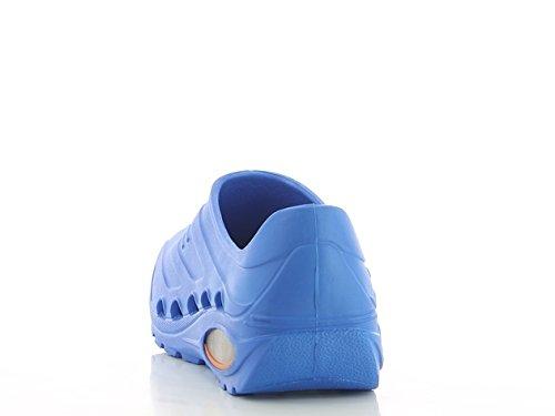 Oxypas Oxyva Gemakkelijk Afwasbaar Anti-slip Antistatische Eva Verpleging Schoenen Theater Klompen Met Schokabsorberende Uk 11 12 46 Electric Blue