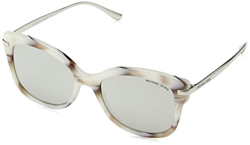 Michael Kors Women's Lia MK2047 53mm Pink Marble/Silver Mirror Sunglasses