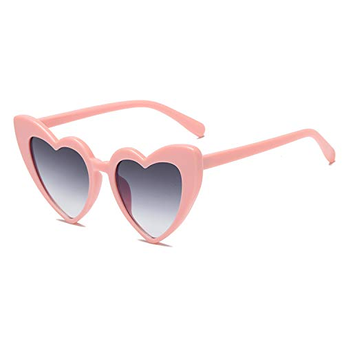 Heart-Shaped Sunglasses Women Vintga Black Pink Red Heart Shape Sun Glasses (C6) ()