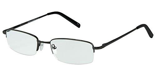 SightLine Multifocal Computer Reading Glasses 6000 Semi-Rimless Designer Frames (2.00, Gunmetal)