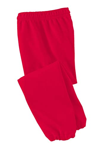 Joe's USA - Youth Soft and Cozy Sweatpants Red. Size Youth S(6-8)