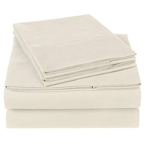 Full Size Sheets Set - 4 Piece Set - Hotel Luxury Bed Sheets - Extra Soft - 10