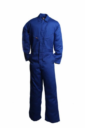 - LAPCO CVFRD7RO-4XL XT Lightweight 100-Percent Cotton Flame Resistant Deluxe Coverall, Royal Blue, 4X-Large, Extra Tall